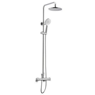 Chrome Thermostatic Mixer Shower Valve (for 9 Inch Overhead and 5 Inch Handheld Shower System)