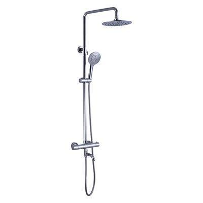 Chrome Thermostatic Mixer Shower Valve with (for Stainless Steel Pipe Shower System)